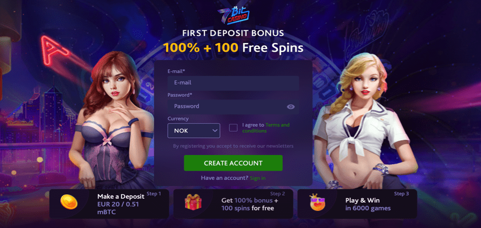 100 free spins norwegian offer - 7bit casino