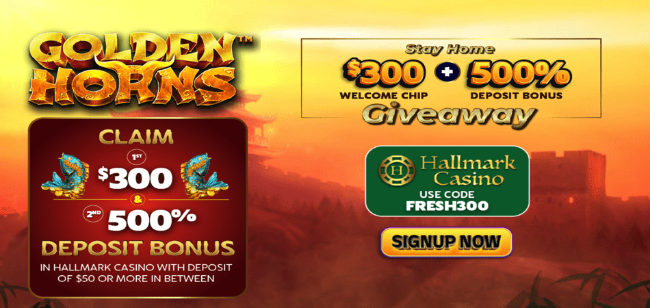 $300 free chip giveaway at hallmark casino