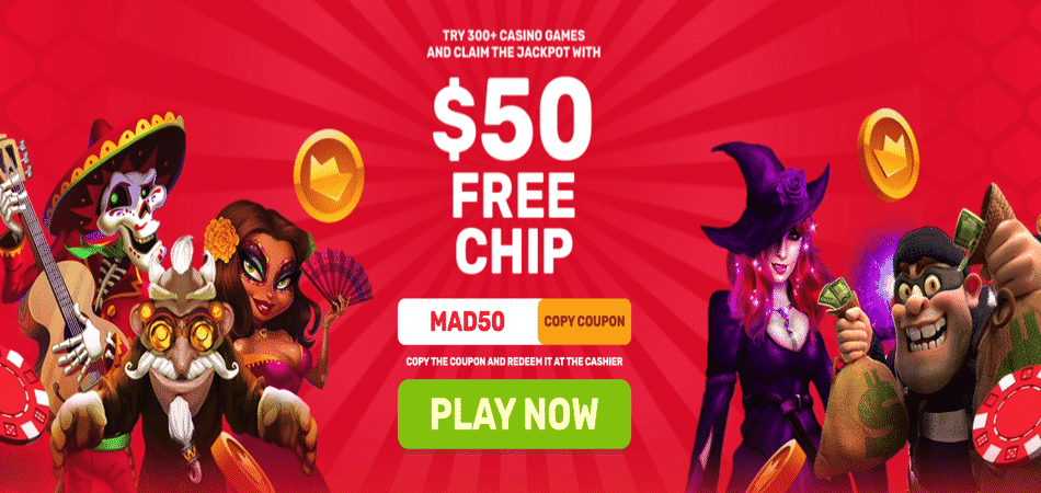 $50 free chip bonus code - slot madness