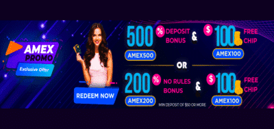 amex no deposit bonus at vegas rush
