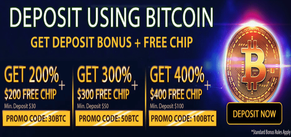 bitcoin free chip promo codes at silveredge casino
