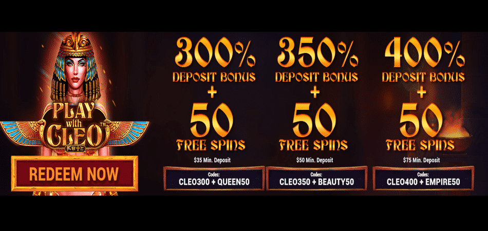 cleopatra free spins at vegas rush