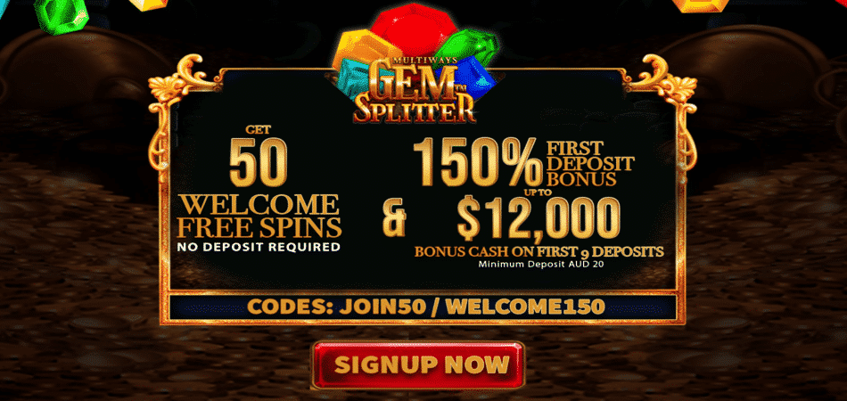 gem splitter free spins promo code in oz las vegas casino