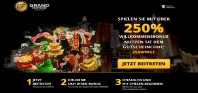 grand fortune 250 bonus code germany