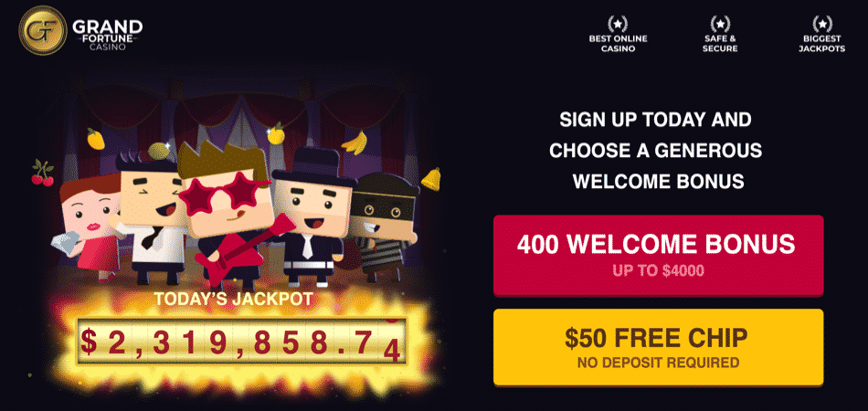grand fortune no deposit bonus code