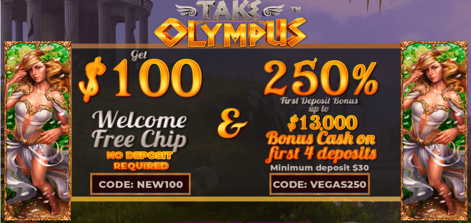 take olympus free chip at vegas rush