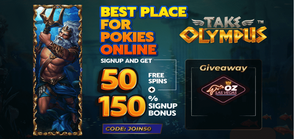 take olympus free spins promo code in oz las vegas casino