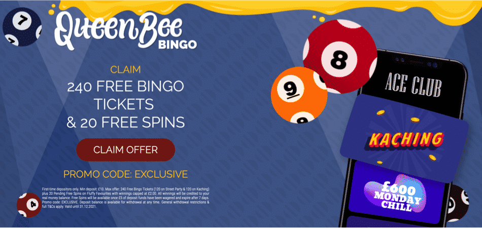 240 free tickets promo code - queenbee bingo room