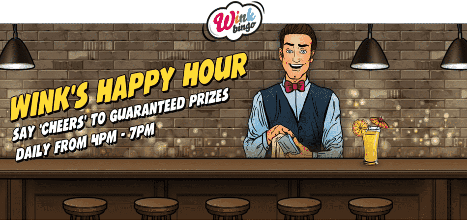 happy hour bonuses wink bingo