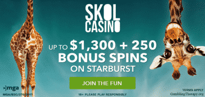 skol casino NZ and CAD bonus