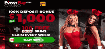 100 free spins Canada - Power Play