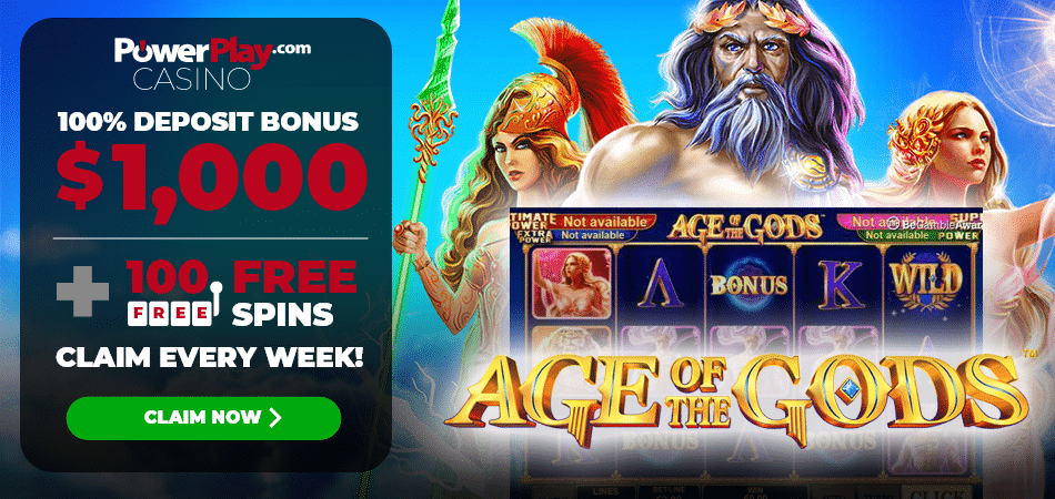 100 free spins on age of gods - Power Play