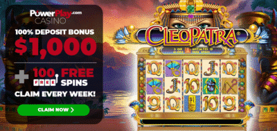 100 free spins on Cleopatra - Power Play