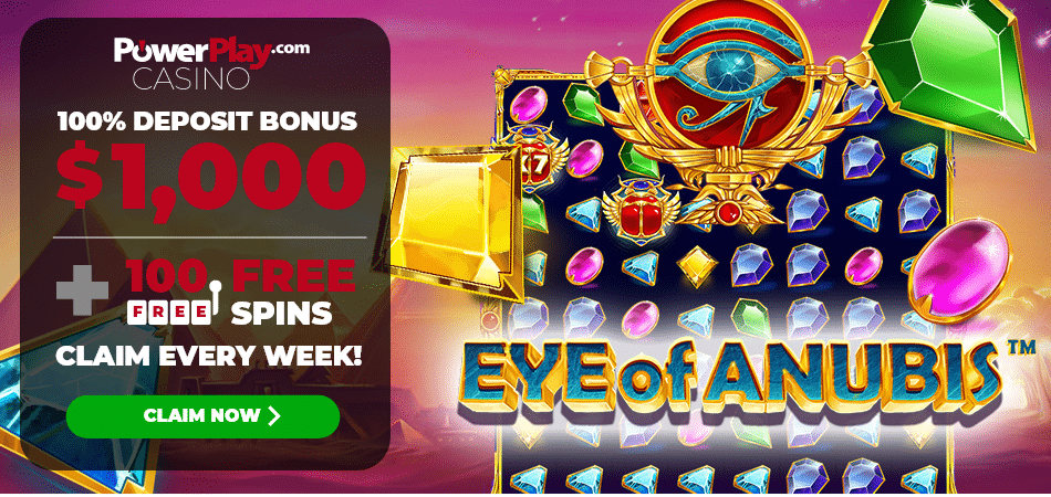 100 free spins on eye of anubis - Power Play