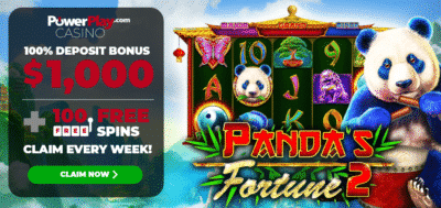 100 free spins on Panda's Fortune - Power Play