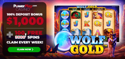 100 free spins on Wolf Gold - Power Play