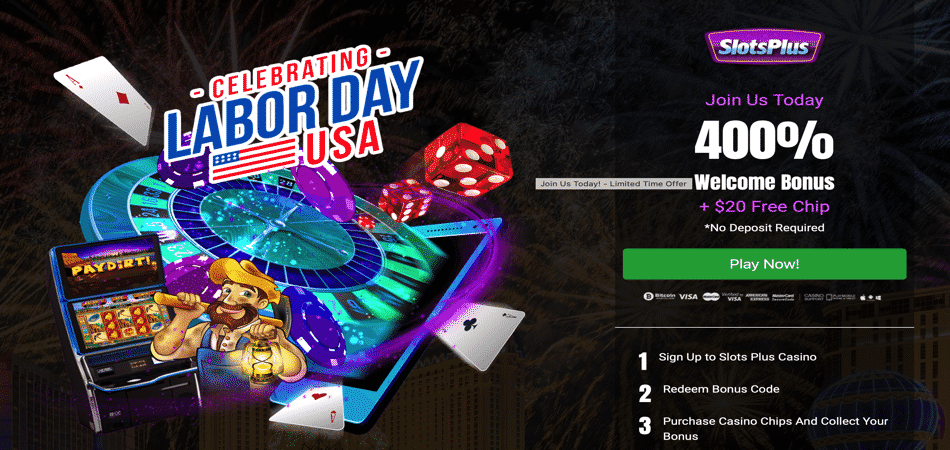 Slots Plus - Exclusive Labor Day Coupon Code